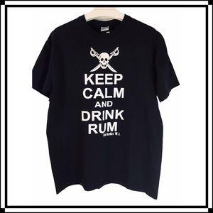 Keep Calm Pirate Graphic Tee by Ganzee Island Shop